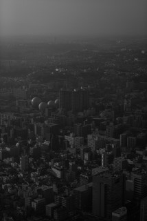 ランドマークタワーからの眺め モノクロ black and white.JPG