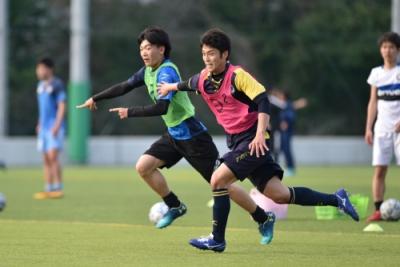 桐蔭横浜大学 サッカー部 練習風景