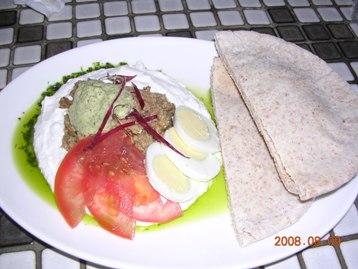 茄子ディップ&ピタパン