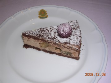バナナとチョコレートのケーキ