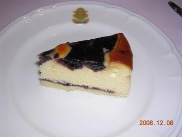 ブルーベリー入りチーズケーキ