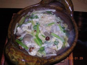 薩摩軍鶏の柳川風鍋