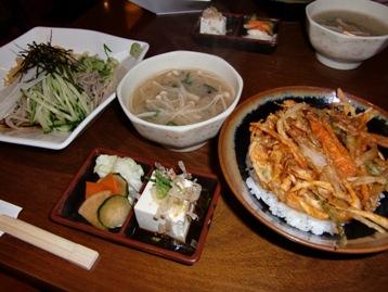 小かき揚げ丼&小そば(冷)セット