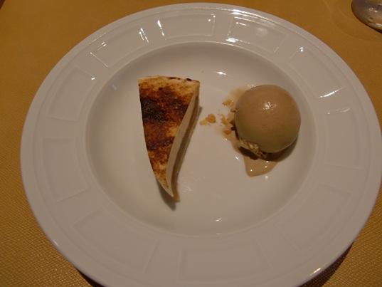 林檎のシブーストとキャラメルのアイス