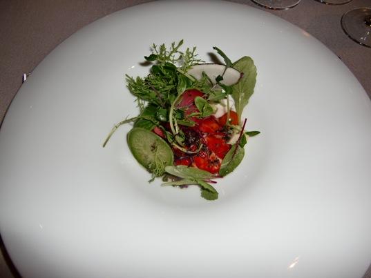 オマールエビと冬野菜のサラダ