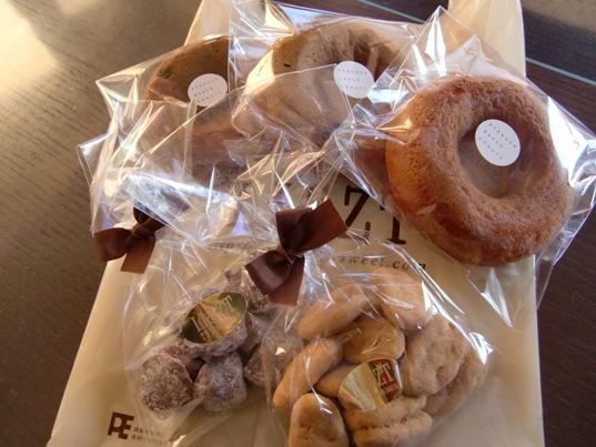 焼きドーナツ&アップルチョコレート&ピーカンナッツキャラメルがけ