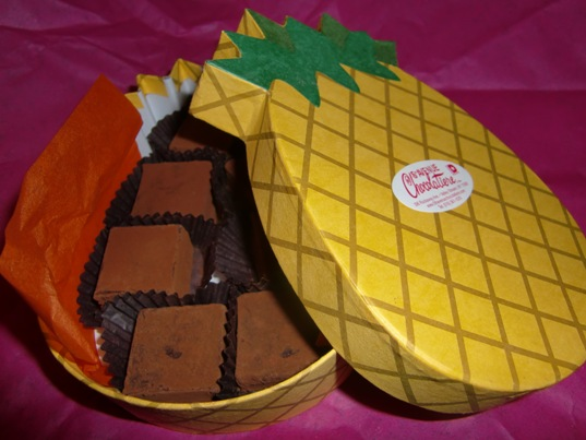 パイナップルの生チョコレート