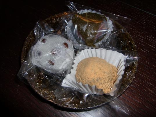 豆大福&葛桜&わらび餅