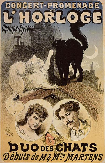 「猫のデュエット」ジュール・シェレ