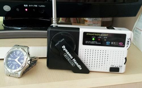 緊急手回しラジオ