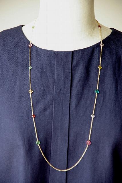 マルチカラートルマリンのネックレス