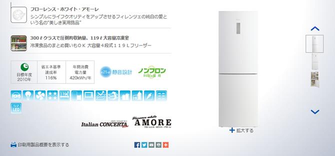 ハイアールのおしゃれな冷蔵庫