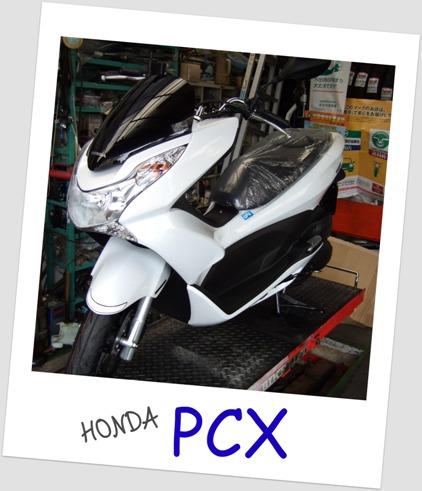 白い流星-PCX。