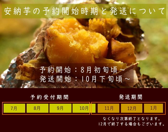 安納芋の収穫時期・出荷時期・