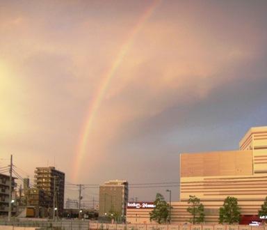 2009年7月19日の虹