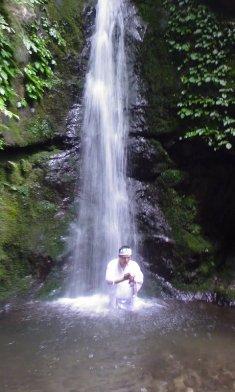 七代の滝での川島金山