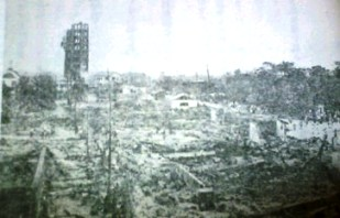 関東大震災直後 浅草の十二階の倒壊