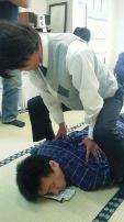 柳澤先生の跨ぎ