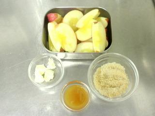 焼きリンゴ材料