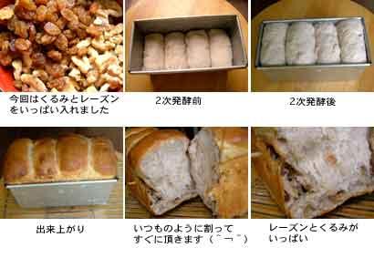 くるみとレーズン食パン