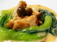 鶏とチンゲン菜のクリーム煮mobile