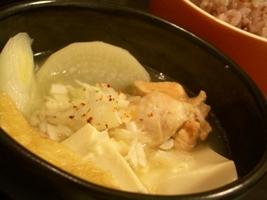 蕎麦湯の鶏鍋1
