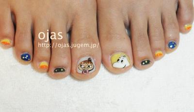 moomin pedicure。ムーミンとリトルミーのペディキュア(フットネイル)。個性的なネイルアートや深爪矯正は京都北大路ネイルサロンojasへ