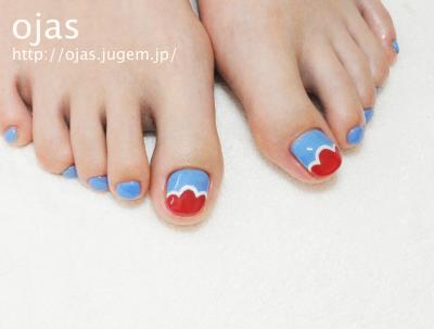 夏に向けてフットネイル、お得なキャンペーン中です。流行のペディキュアも個性派も京都北大路ojasで。足の深爪矯正も行っております。