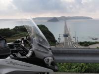角島大橋とVFR800X