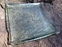相島産の岩石をつかった萩西瓜皿