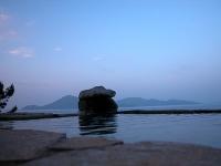 日本海を眺める露天風呂