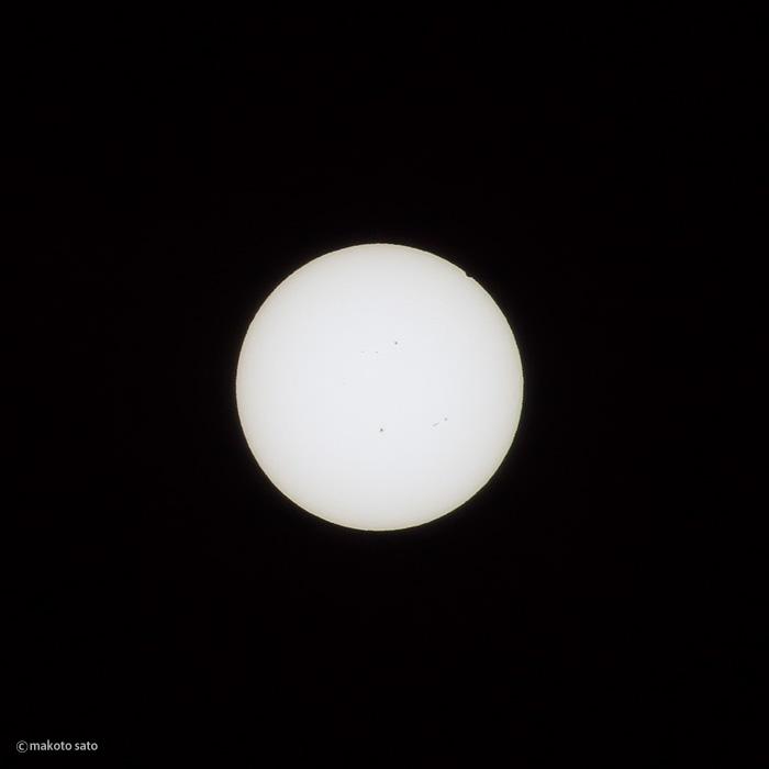 金星日面経過(2012.06.06 / 13:44:27)
