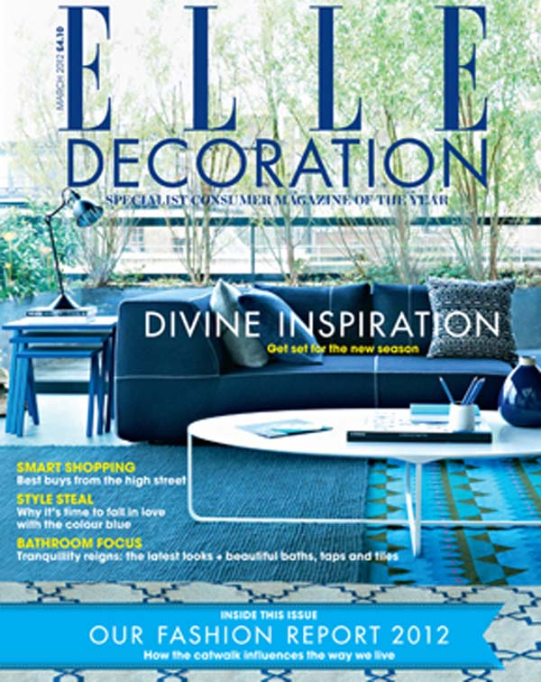 The March issue of ELLE Decoration UK cover