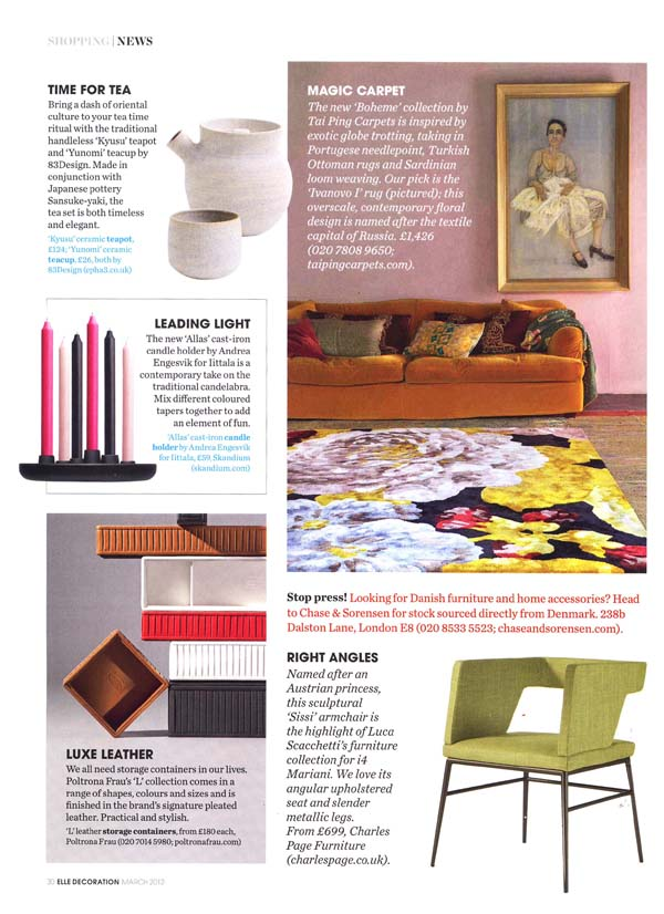 The March issue of ELLE Decoration UK