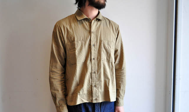 YAECA WRITE / ダブルポケットスクエアシャツ