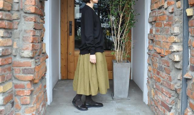 YAECA / 33G cotton cashmere カーディガン