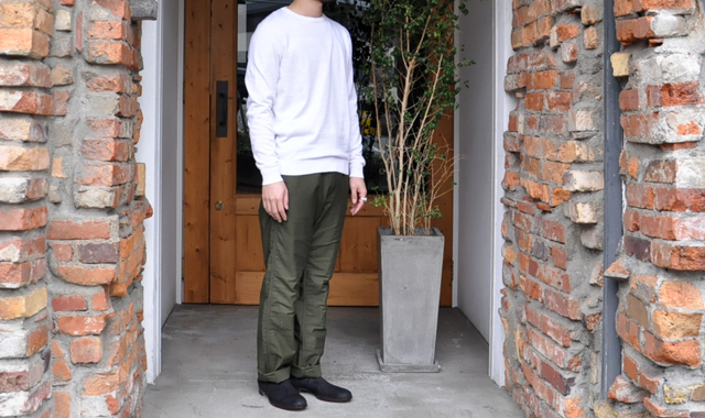 YAECA / 33G cotton cashmere クルーネック