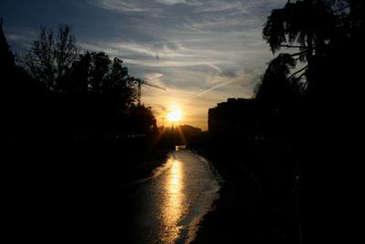 グラナダの夕日