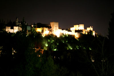 アルハンブラ宮殿、夜の顔