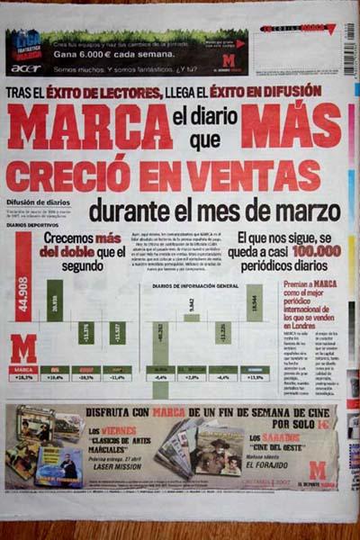 スペインで最も読まれている新聞...