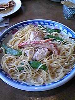 タラバ蟹とスナップエンドウのクリームソース.jpg