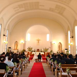 とある四国地区内のカトリック教会挙式