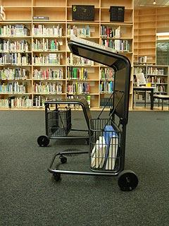 深澤直人デザインブックカート・武蔵野美術大学図書館