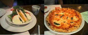 サラダとピザ