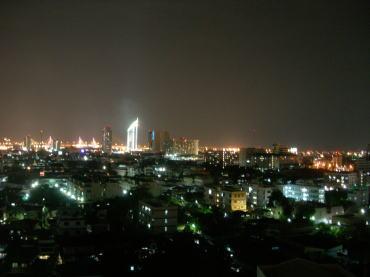トンタラリバーサイドホテルからの夜景