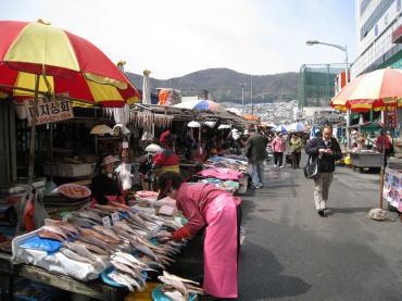 市場の風景