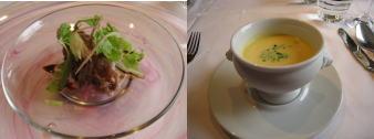 オードブルとスープ