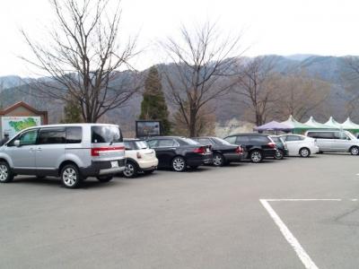 平成23年4月24日の荘川桜駐車場の様子