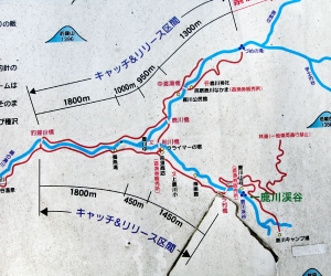 鹿川渓谷周辺地図