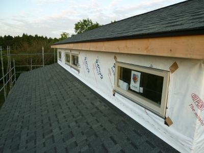 2階屋根完成